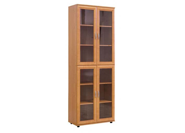 Шкаф №107 для книг 4 стекл.двери