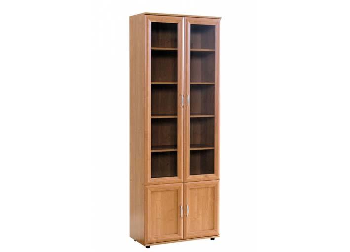 Шкаф №108 Шкаф для книг 2 стекляные +2 глухие двери