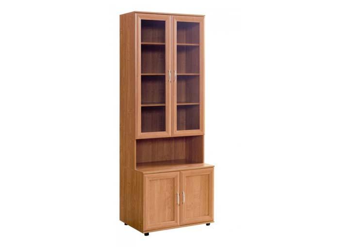 Шкаф №110 Шкаф для книг 2 стекляные + 2 глухие двери