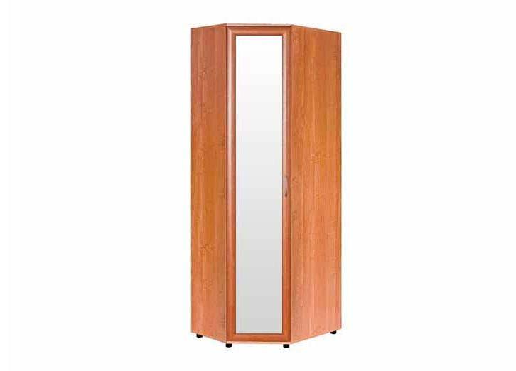 Шкаф №147 угловой с зеркалом полки и штанга