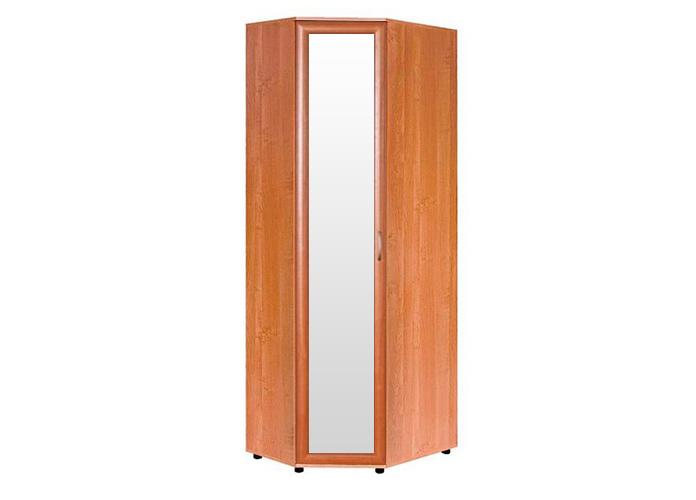Шкаф №104 угловой с зеркалом полки и штанга