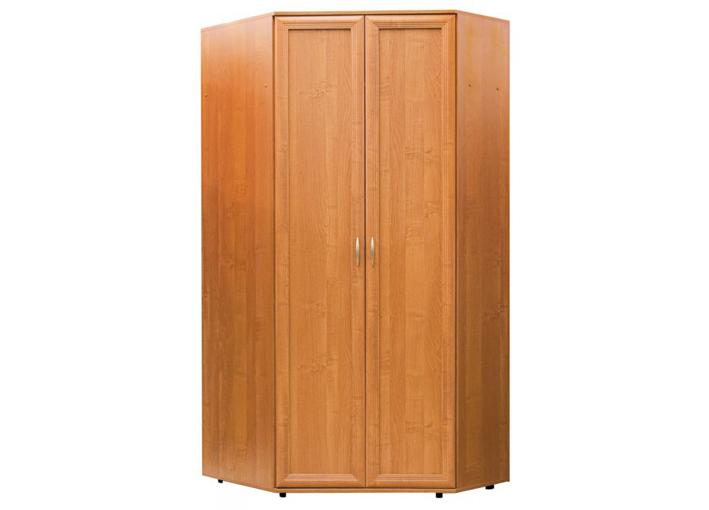 Шкаф №145 угловой 2-х дверный полки и штанга
