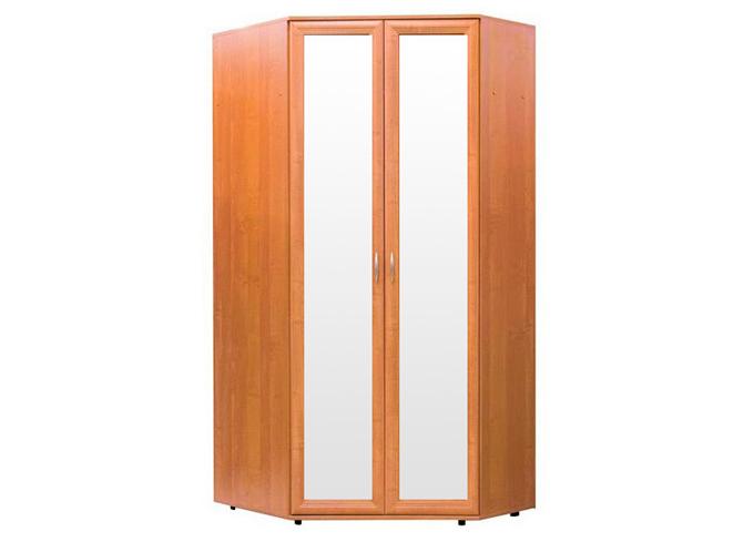Шкаф №145 угловой с зеркалами полки и штанга
