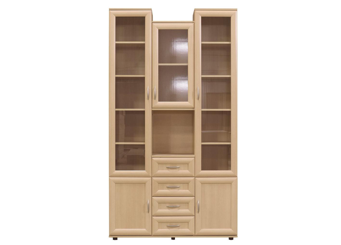 Шкаф №163 комбинированный  (рифленое стекло)