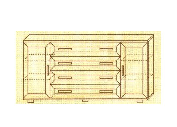 Комод №118 с 4 ящиками+ 2 боковые двери