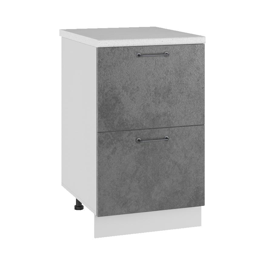 Кухня Лофт КМЯ 500 Шкаф нижний ящики с метабоксами