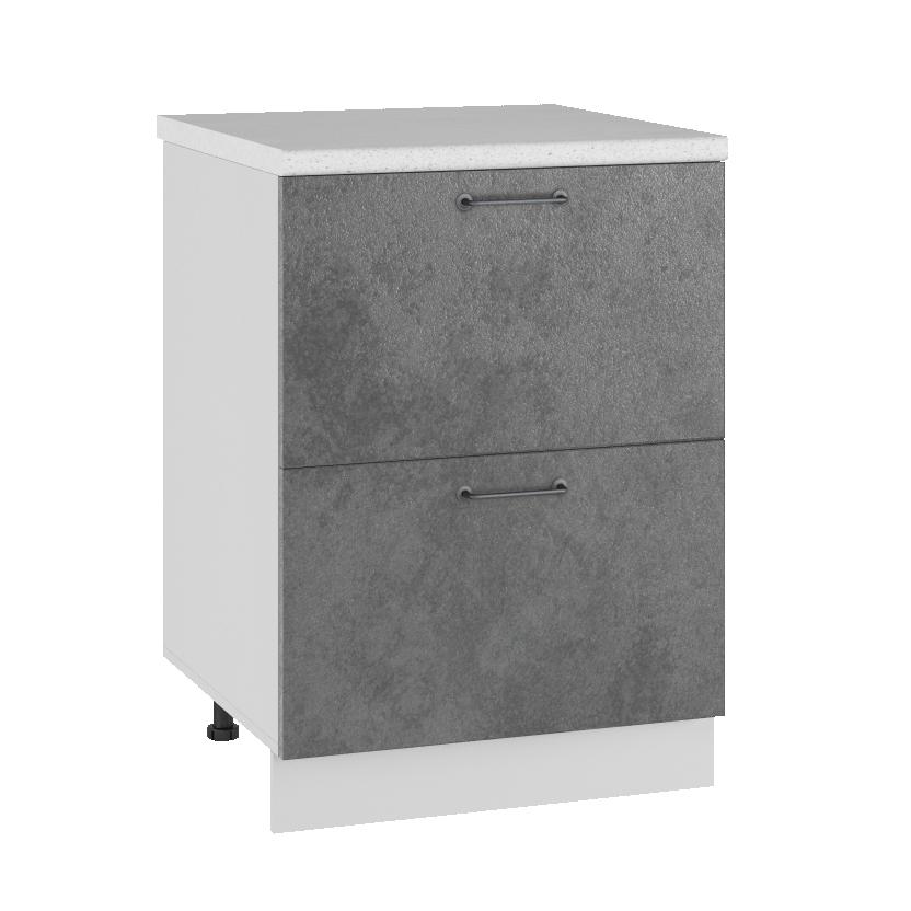 Кухня Лофт КМЯ 600 Шкаф нижний ящики с метабоксами