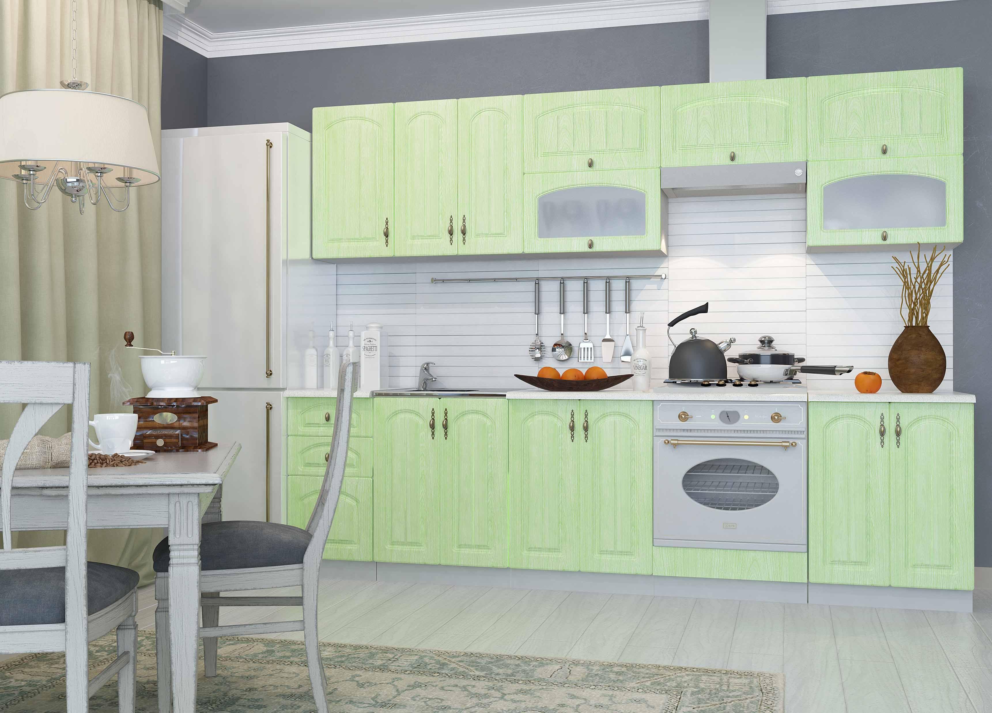 Кухня Монако ПУС 550*550 Шкаф верхний угловой стекло