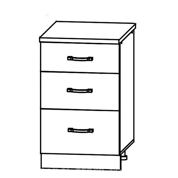 Кухня Маша СМЯ 500 Шкаф нижний ящики с метабоксами