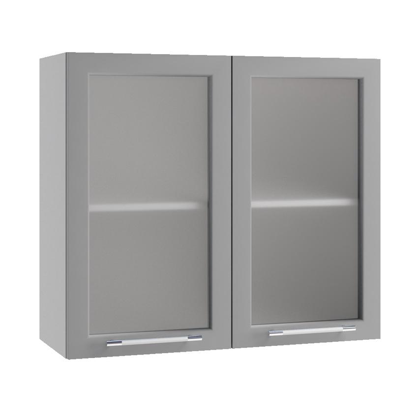 Кухня Орио Шкаф верхний ПС 800  стекло
