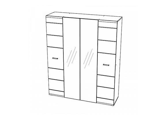 Нэнси New Шкаф 4-дв