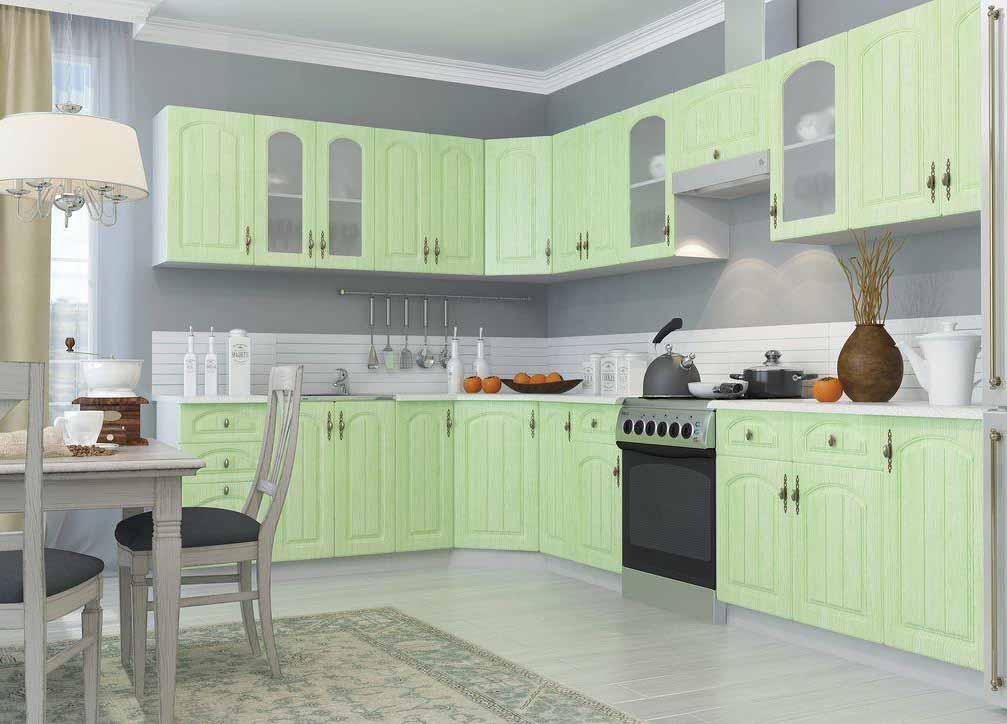 Кухня Монако ПГС 600 Шкаф верхний горизонтальный стекло