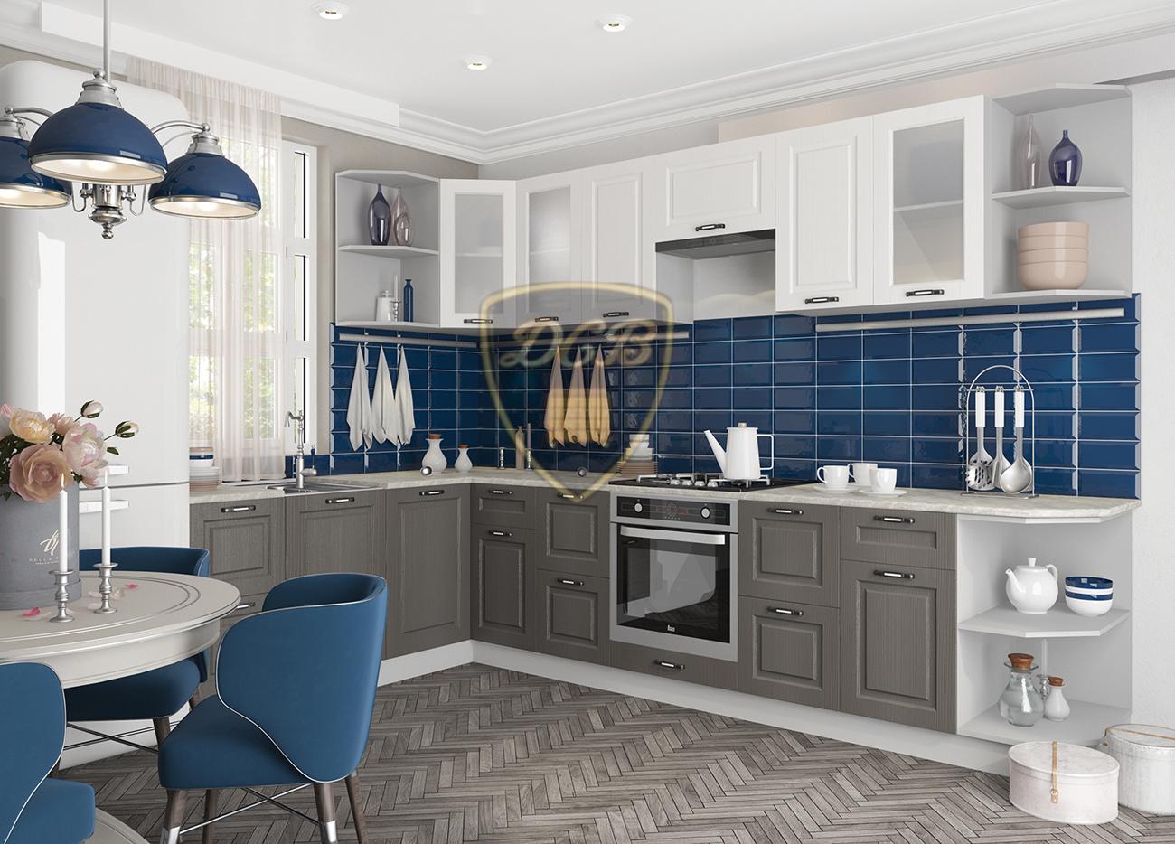 Кухня Капри ПГС 800 Шкаф верхний горизонтальный стекло