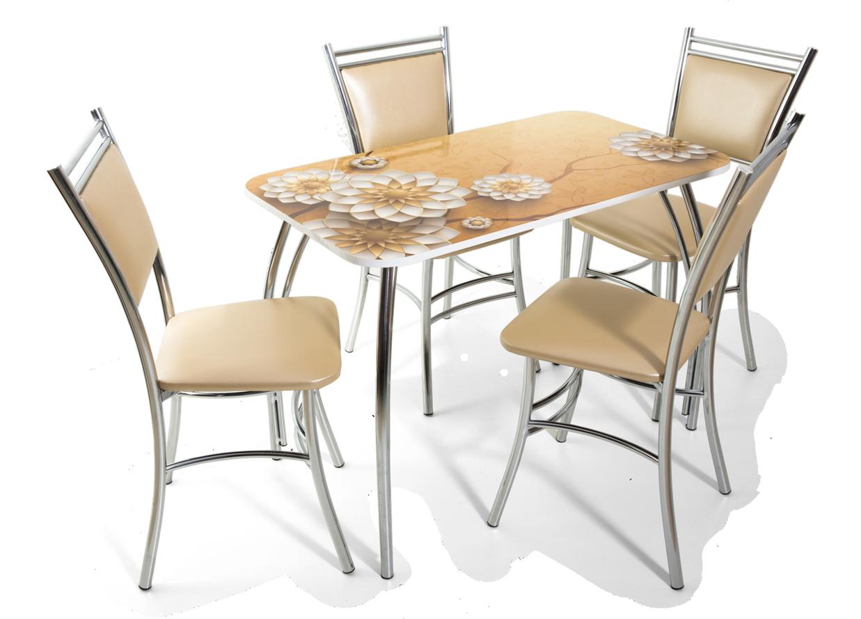 Стол обеденный Лилия фотопечати в ассортименте