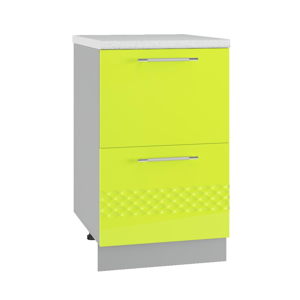 Кухня Капля 3D КМЯ 500 ящики сметабоксами
