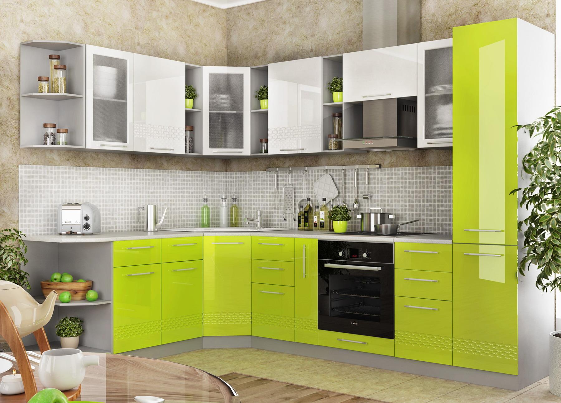 Кухня Капля 3D П 350 Шкаф верхний петли слева