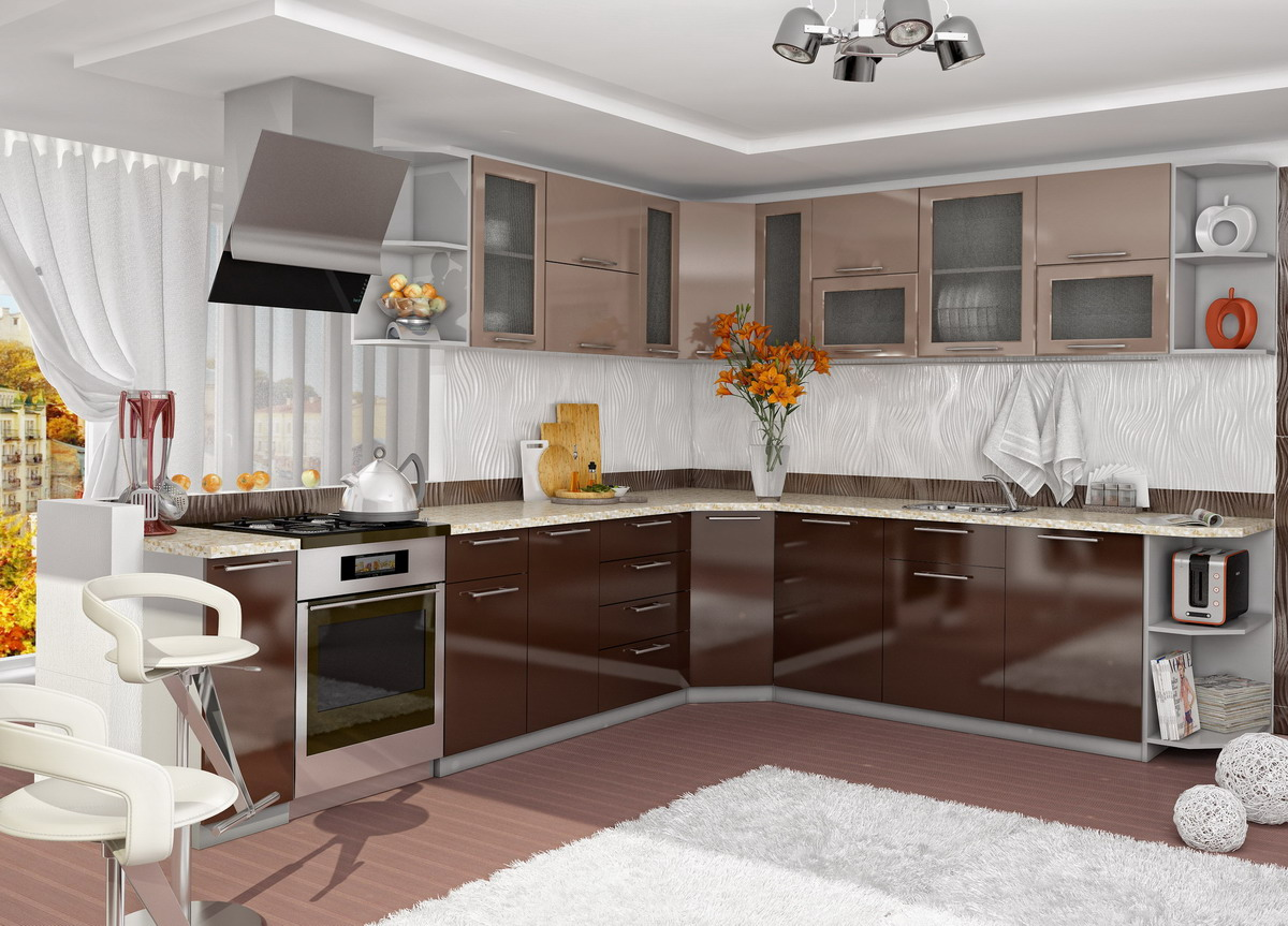 Кухня Олива угловая 2650*2550