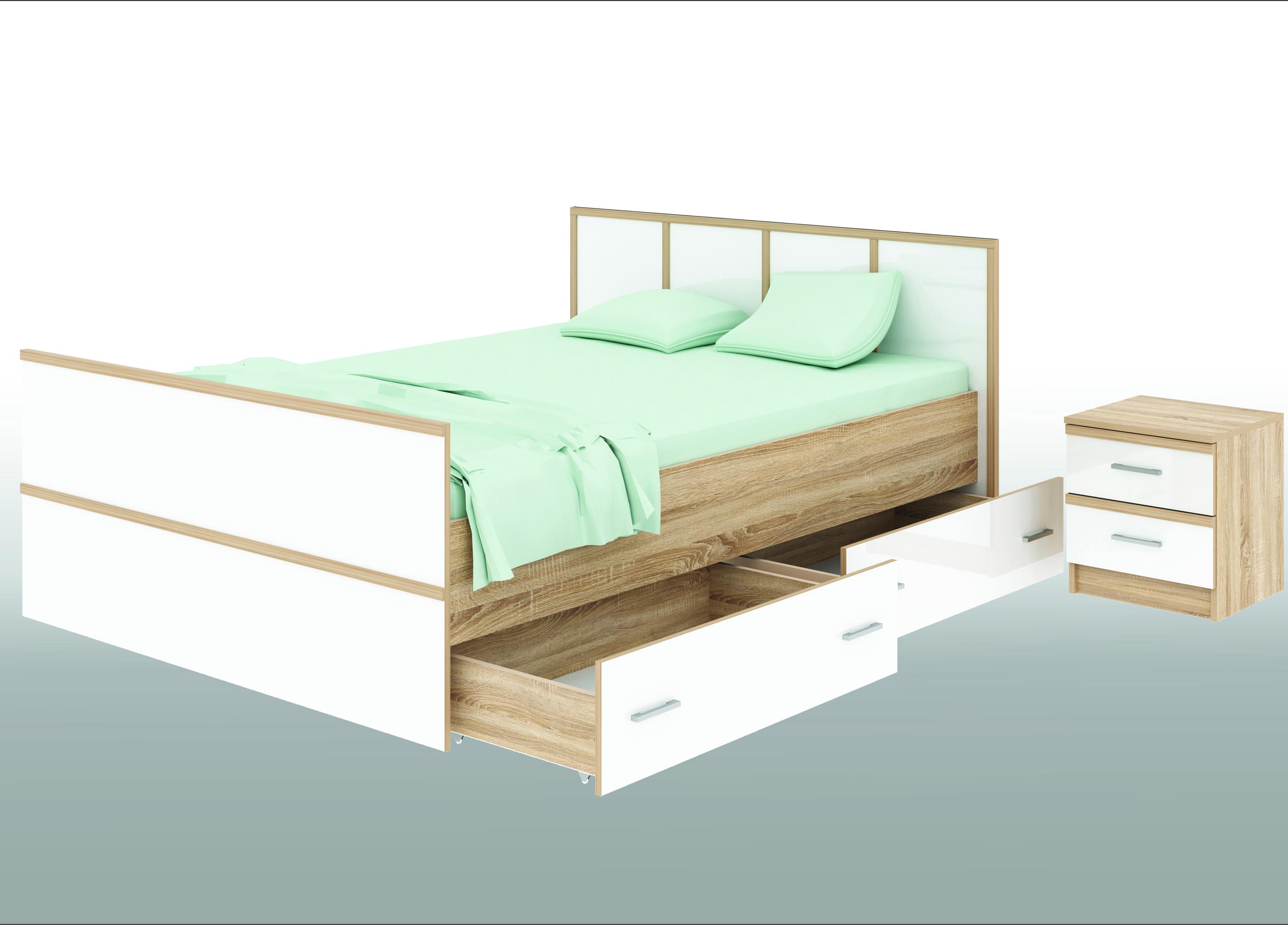 Спальня Сакура Кровать 1600 с ящиками