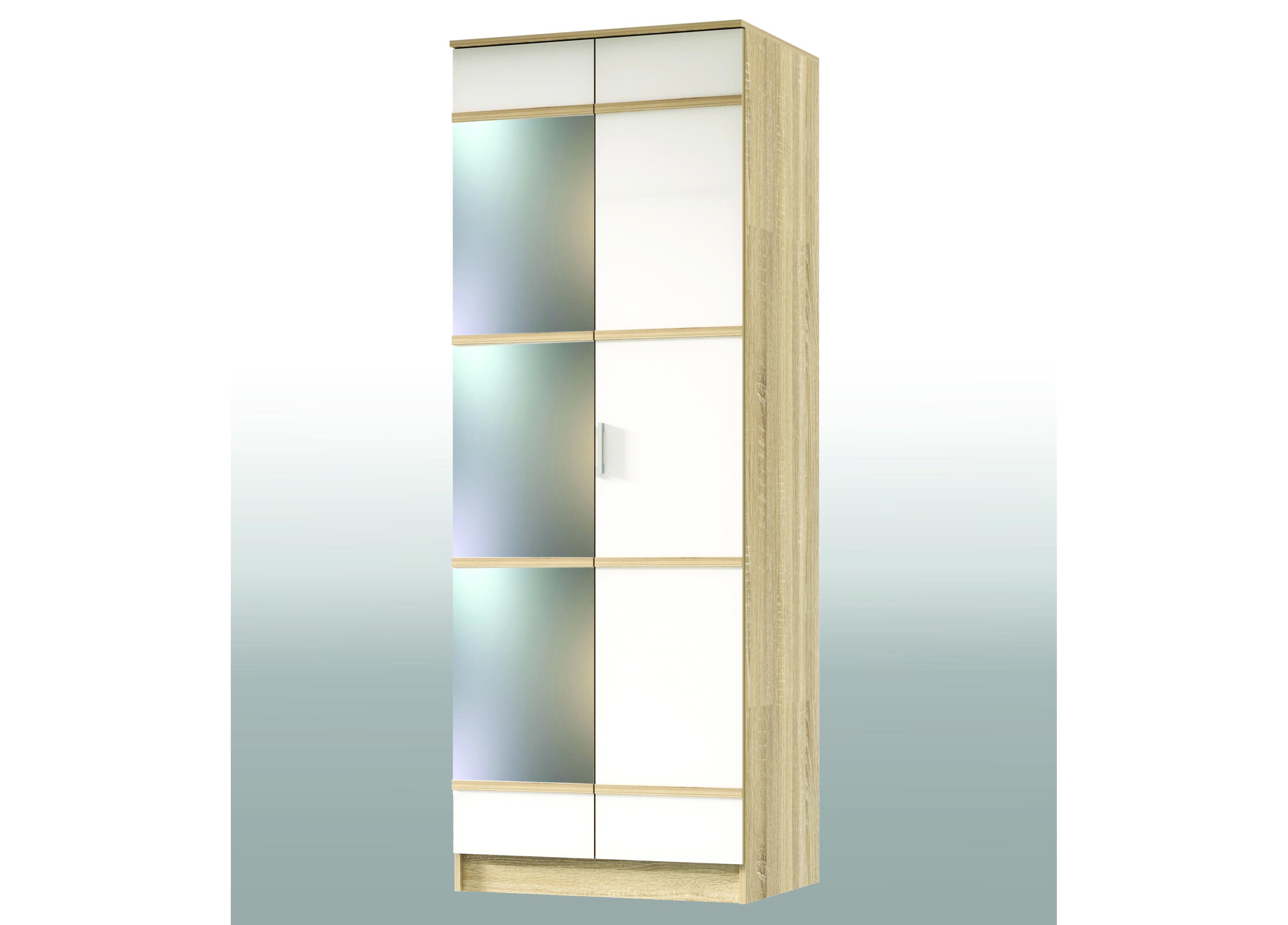Спальня Сакура Шкаф 2-х дверный с зеркалом