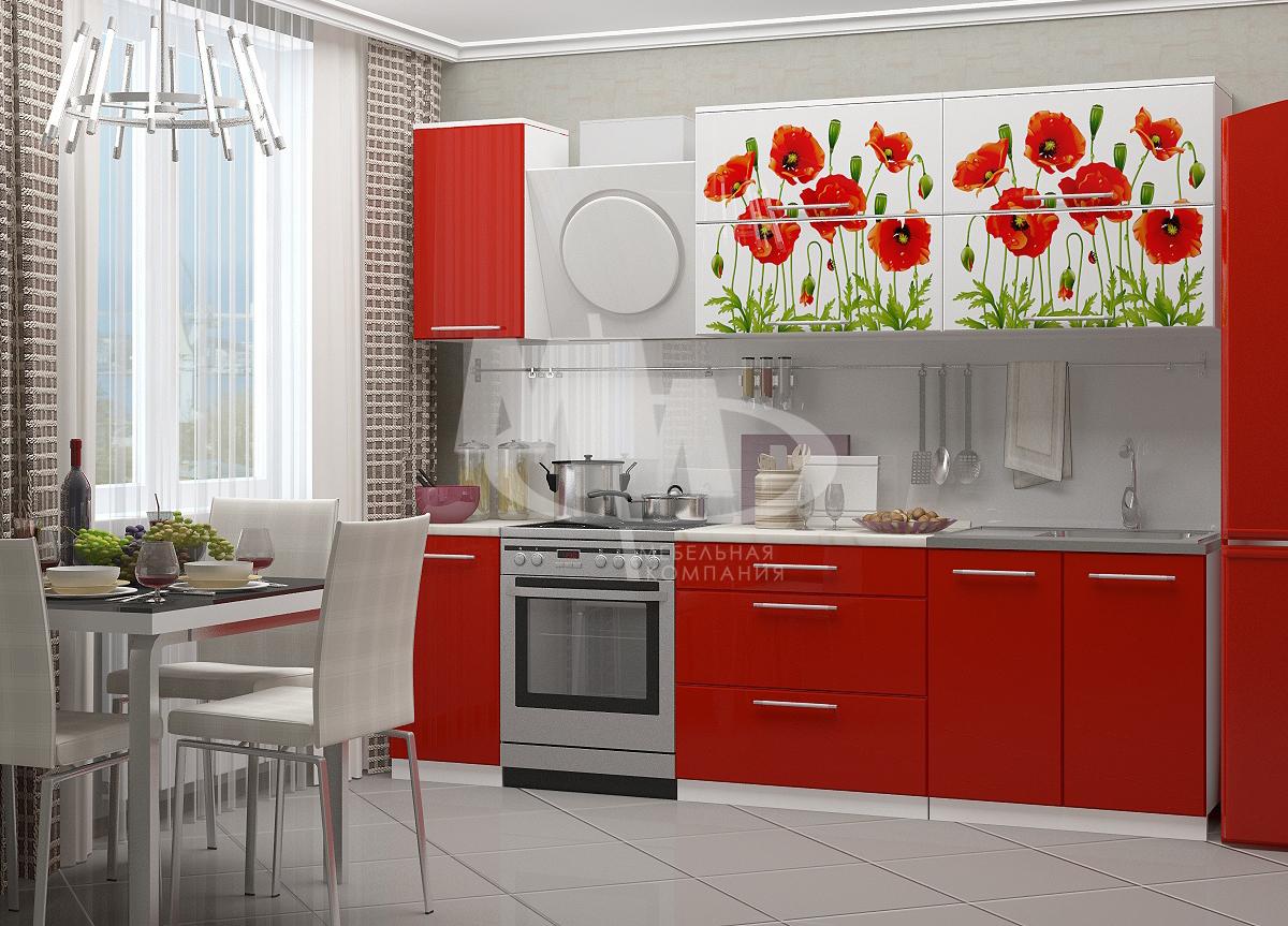 Кухня Маки красные 2,0