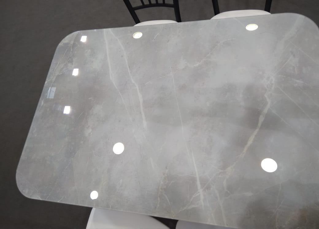 Стол обеденный Бетон стекло