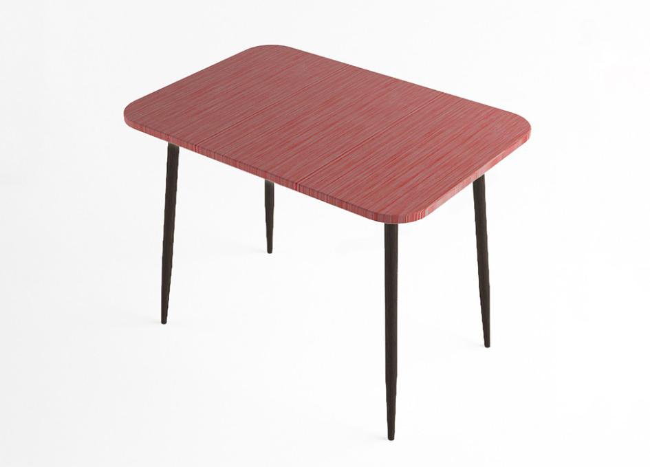 Стол обеденный Титан красный МДФ