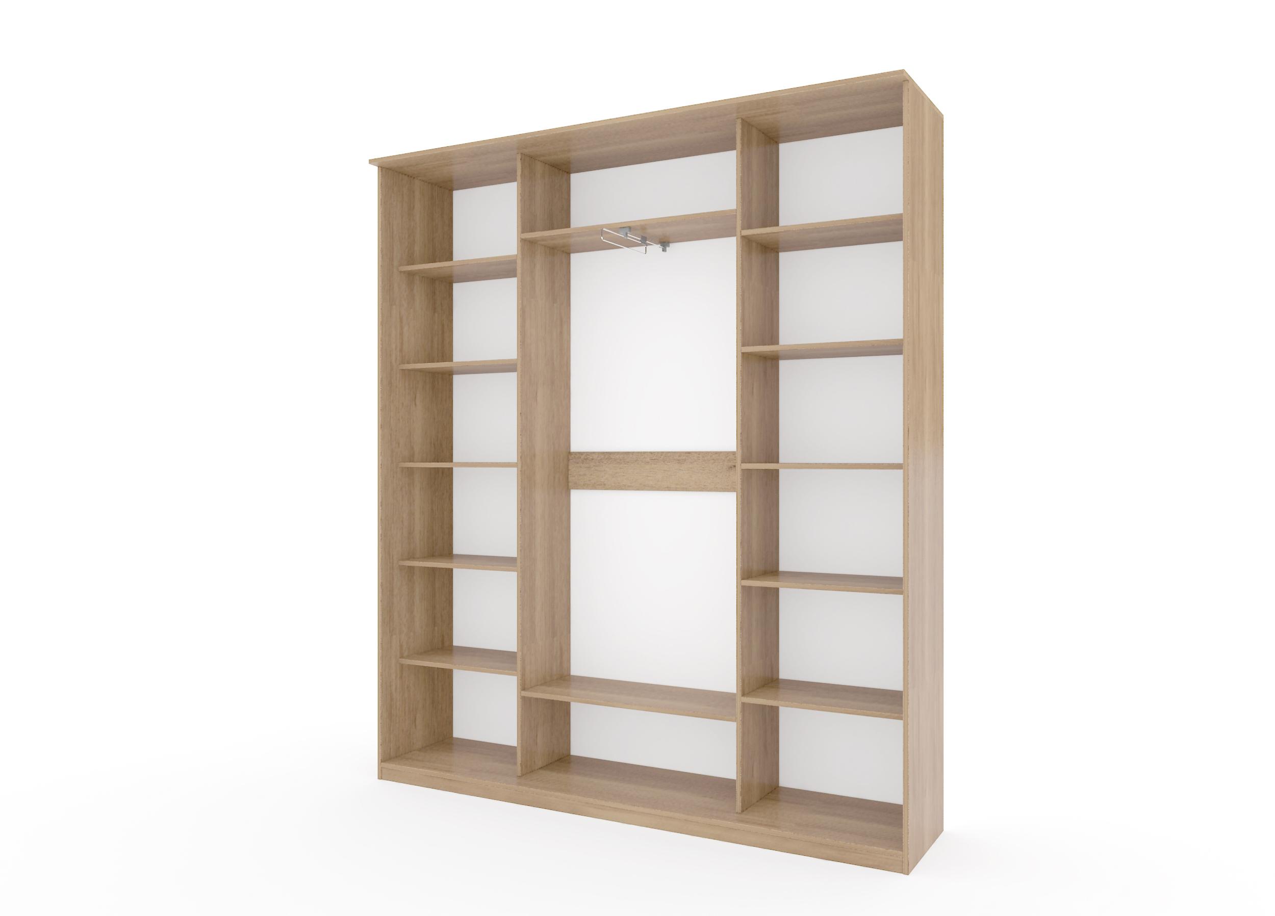Шкаф купе Топ-Лайн 2076 / 450 / 3 секции /пескоструйный рисунок