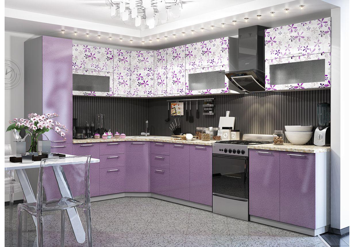 Кухня Флора ПУC 550 Шкаф верхний угловой стекло