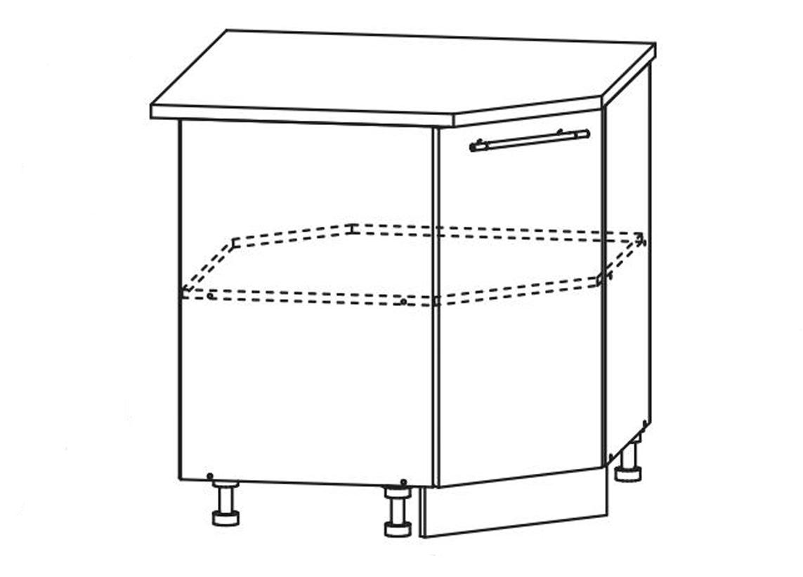 Кухня Флора СУ 850 Шкаф нижний угловой