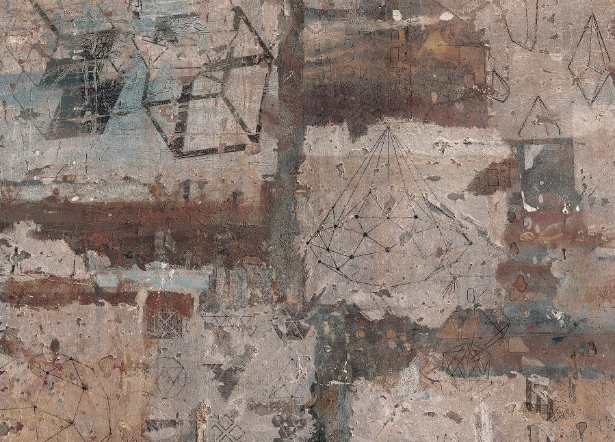 Мебельный щит № 103БТ Граффити 6 мм