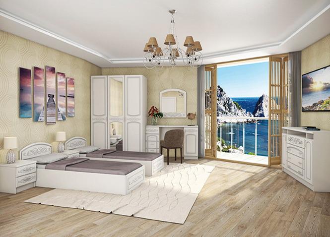 Спальня Венеция кровать КР-160 с подъёмным механизмом