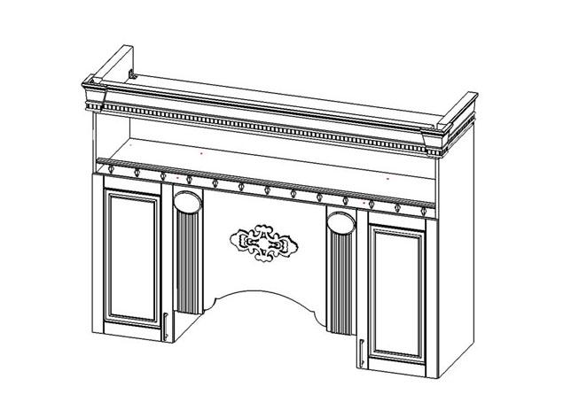 Кухня Верона секция навесная центральная под вытяжку