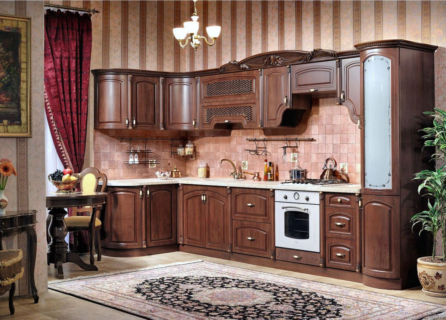 Кухня Мадлен угловая 3700*2270