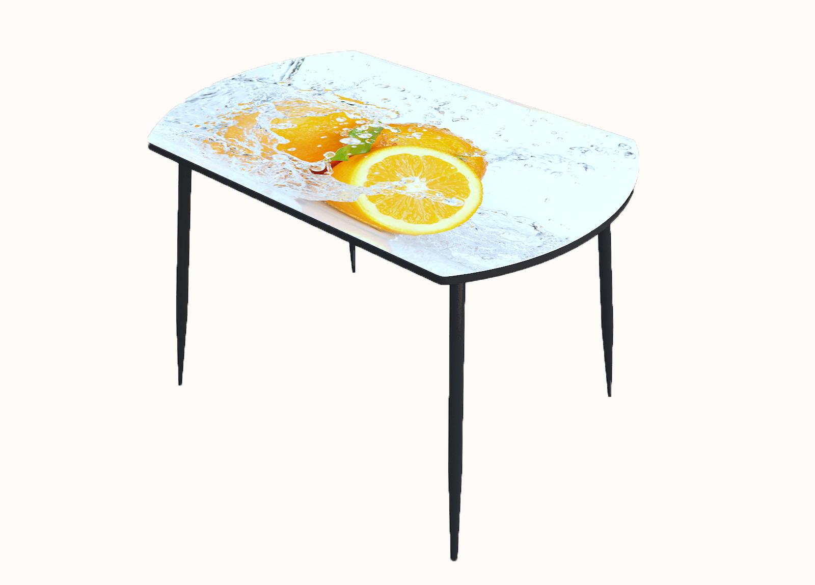 Стол стекло фотопечать Апельсин 013