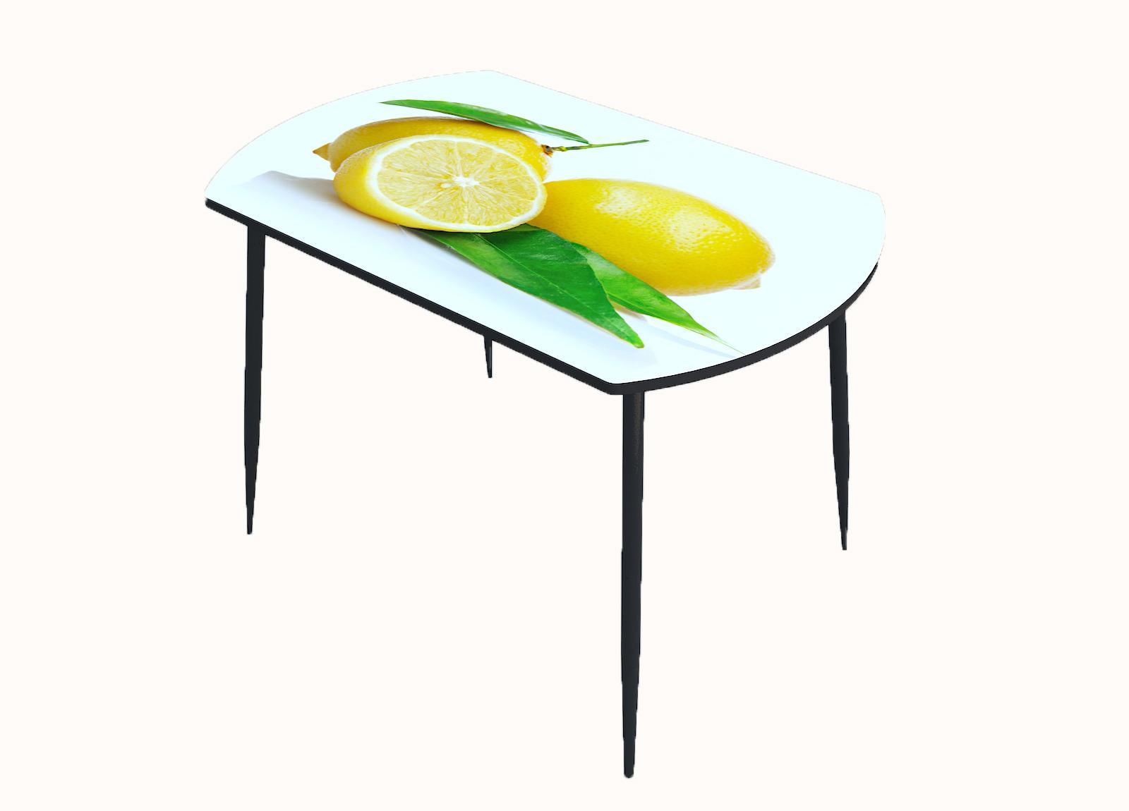 Стол стекло фотопечать Лимон 016
