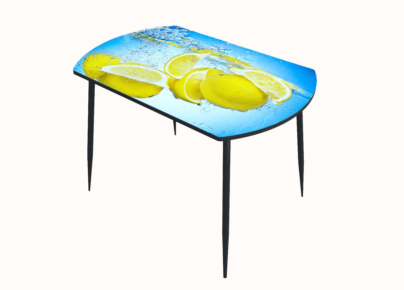Стол стекло фотопечать Лимон вода 018