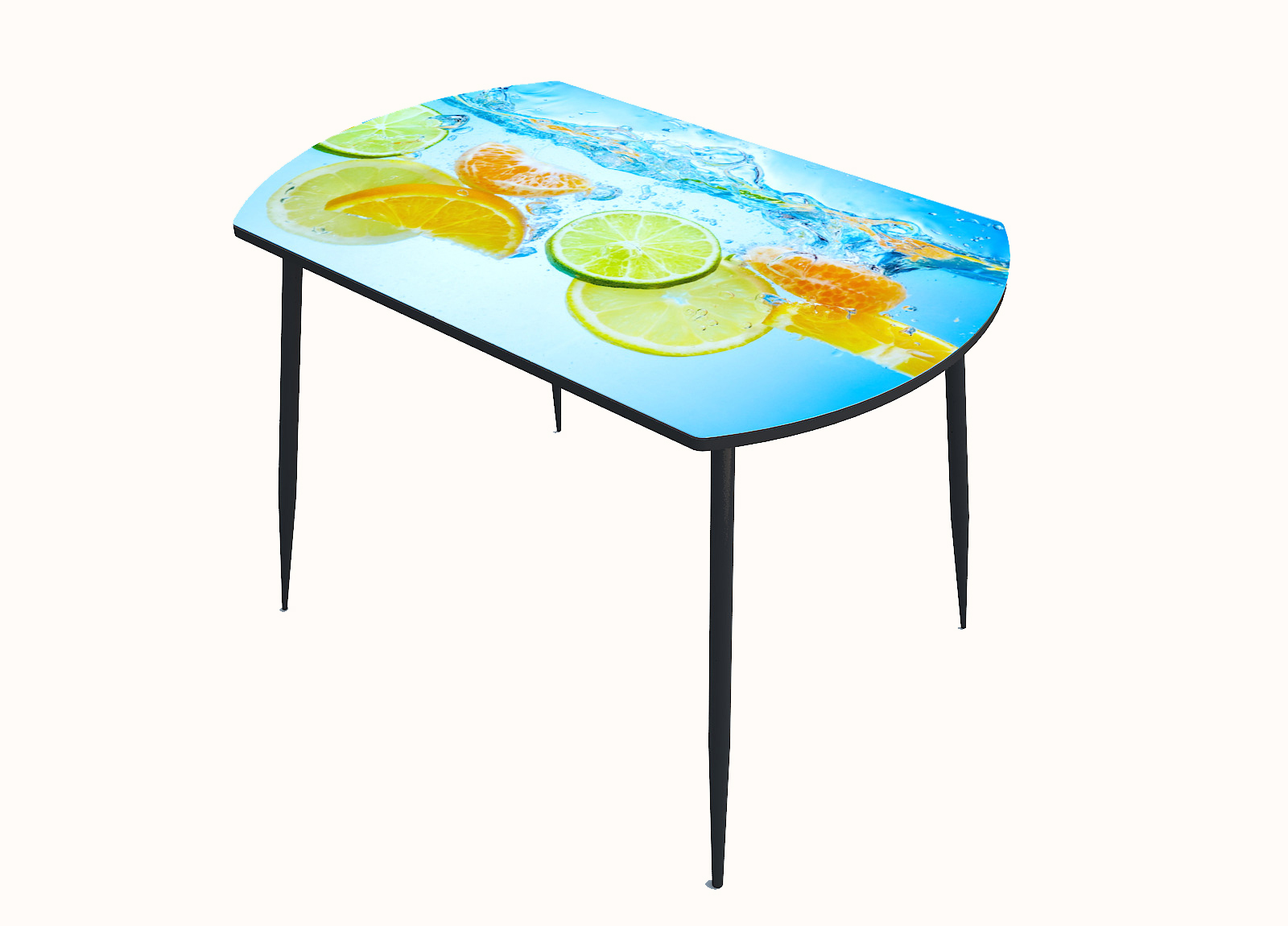 Стол стекло фотопечать Фрукты в воде 019