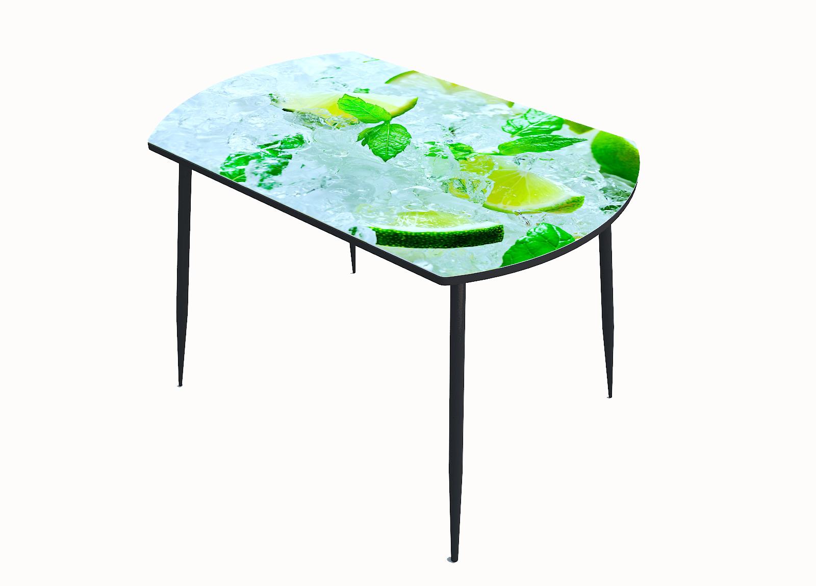 Стол стекло фотопечать Лайм лёд 021