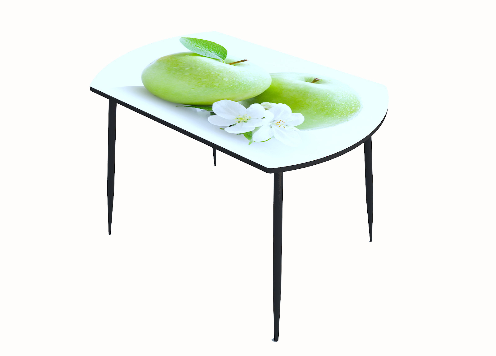 Стол стекло фотопечать Яблоки 022