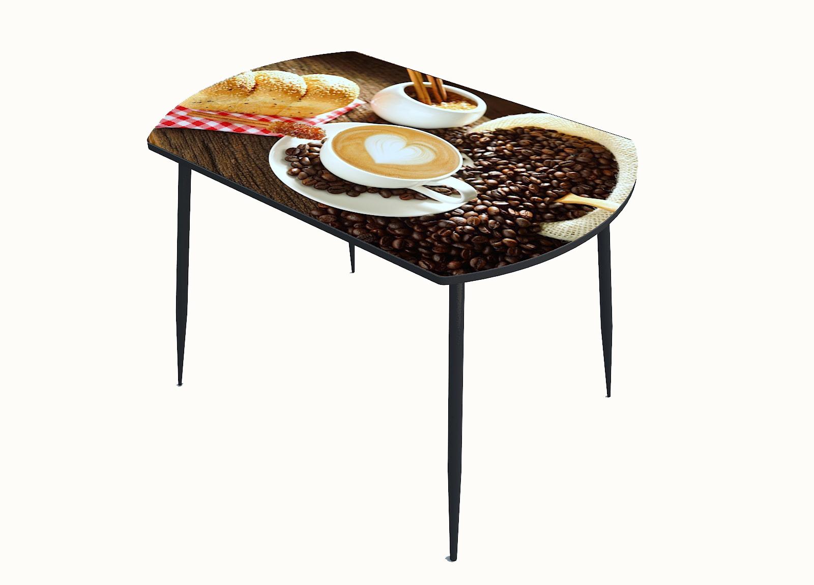 Стол стекло фотопечать Кофе 032