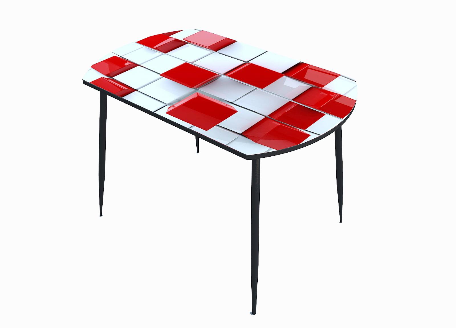 Стол стекло фотопечать Кубики 048