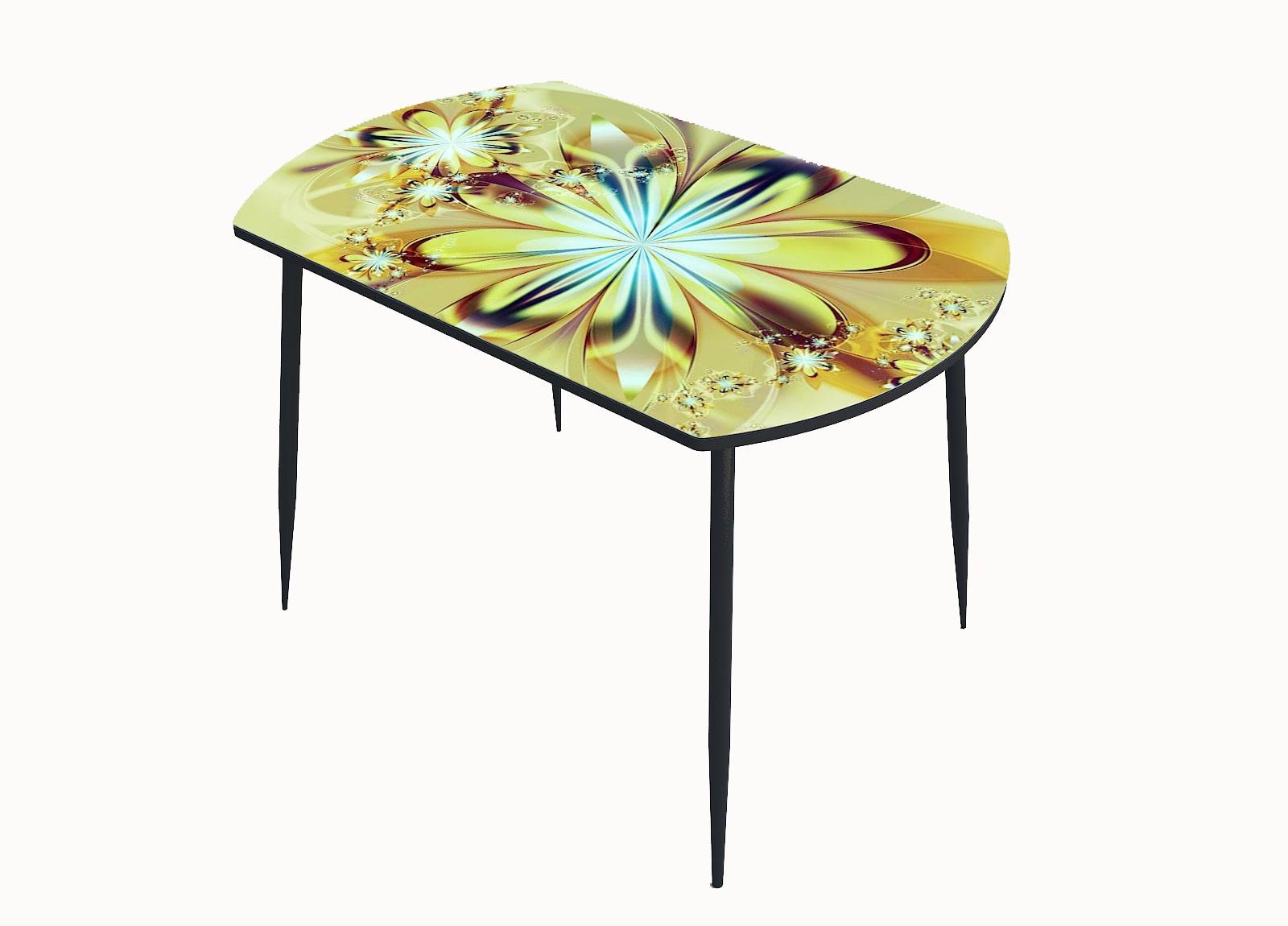 Стол стекло фотопечать Цветы 050
