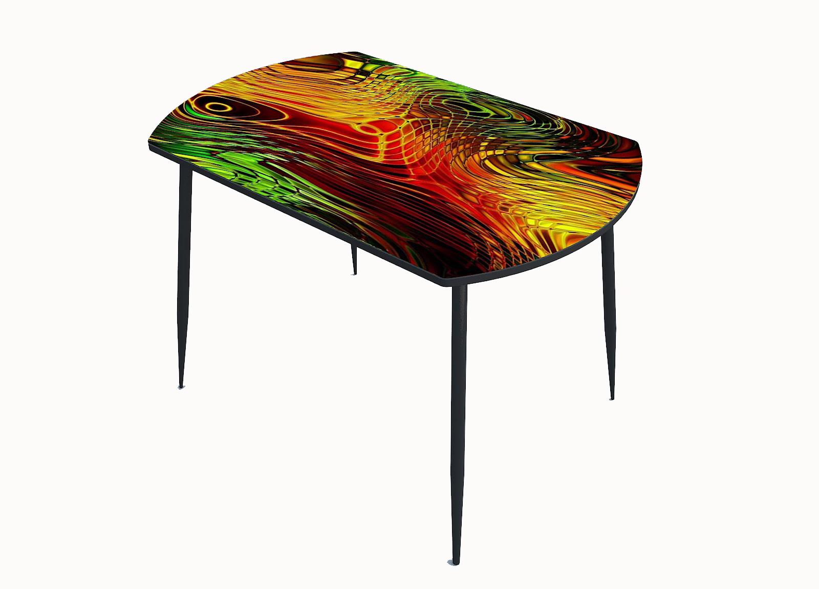Стол стекло фотопечать Калейдоскоп 052