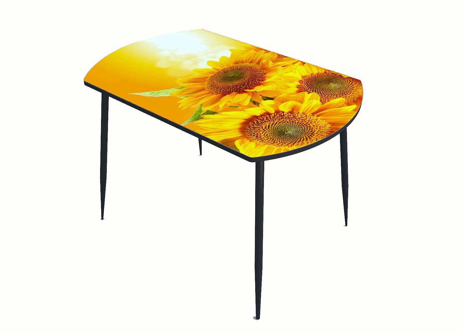 Стол стекло фотопечать Подсолнухи 054