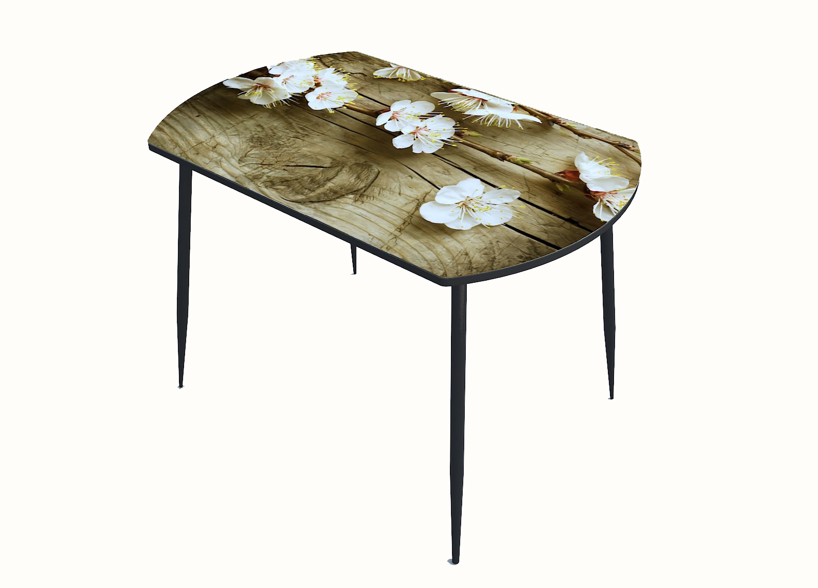 Стол стекло фотопечать Цветы 073