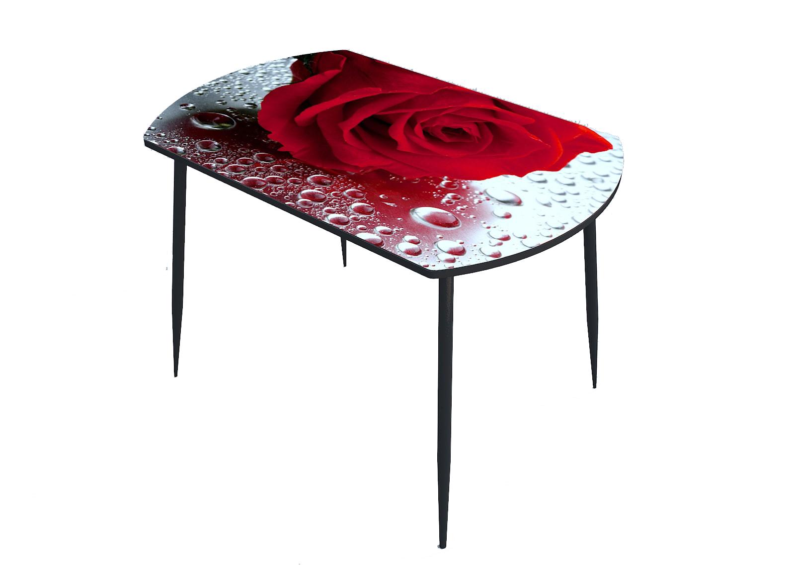 Стол стекло фотопечать Красные розы 079