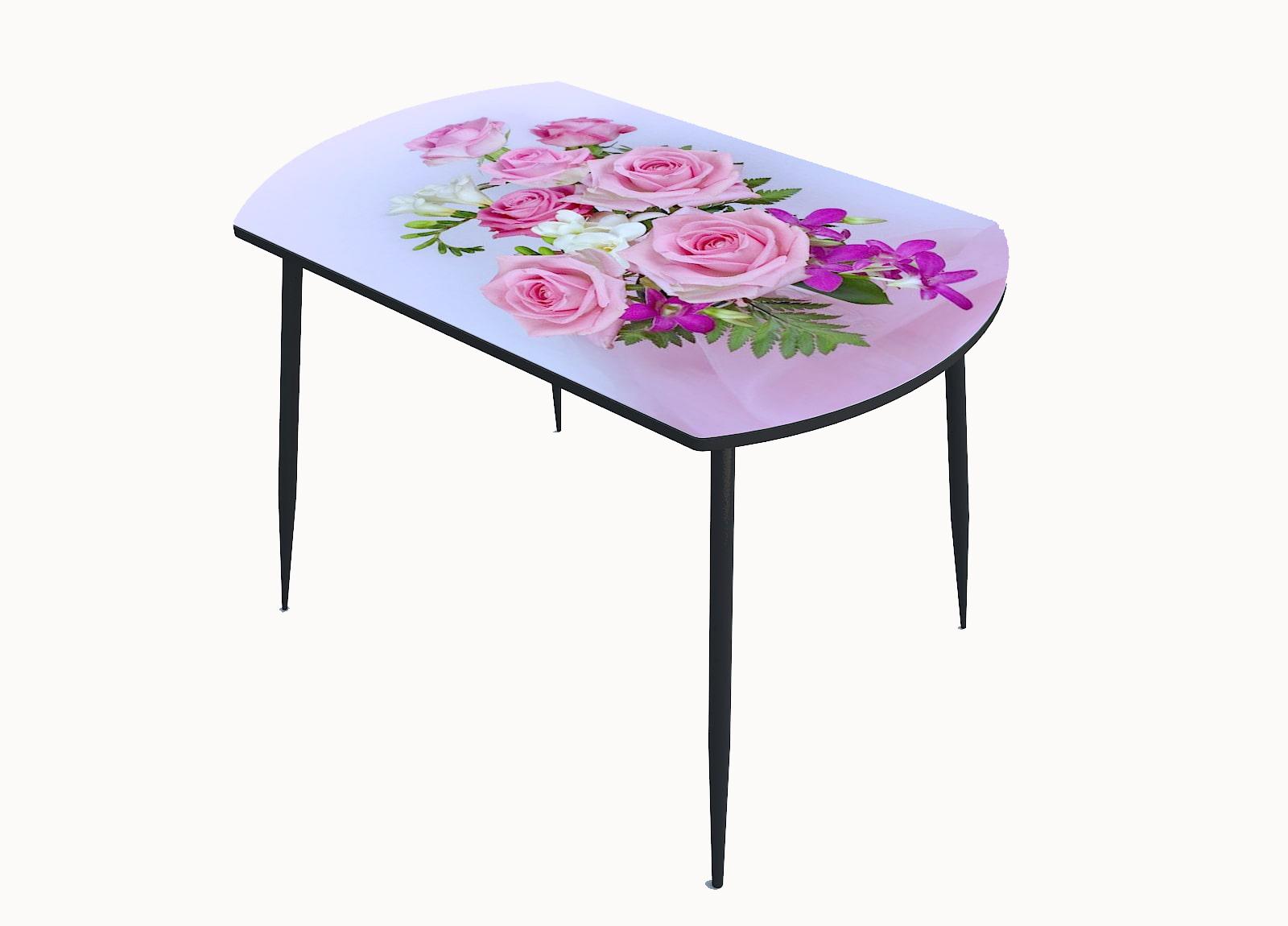 Стол стекло фотопечать Розы 080