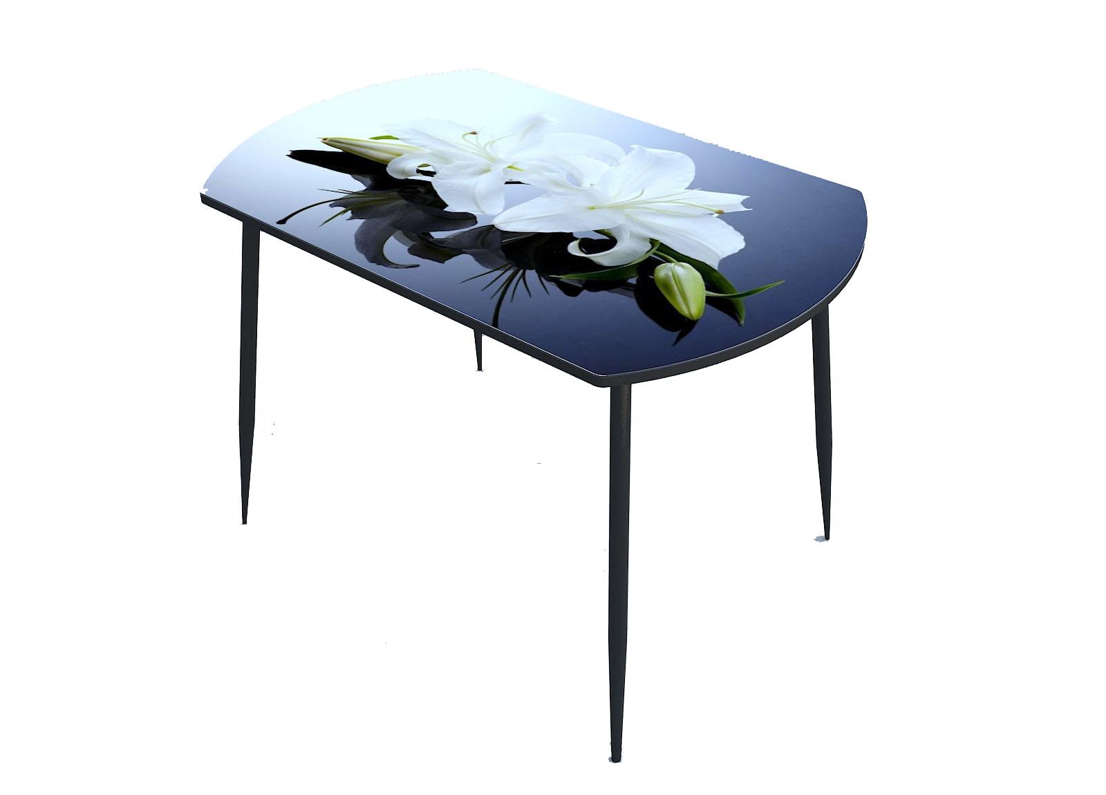 Стол стекло фотопечать Лилия 096