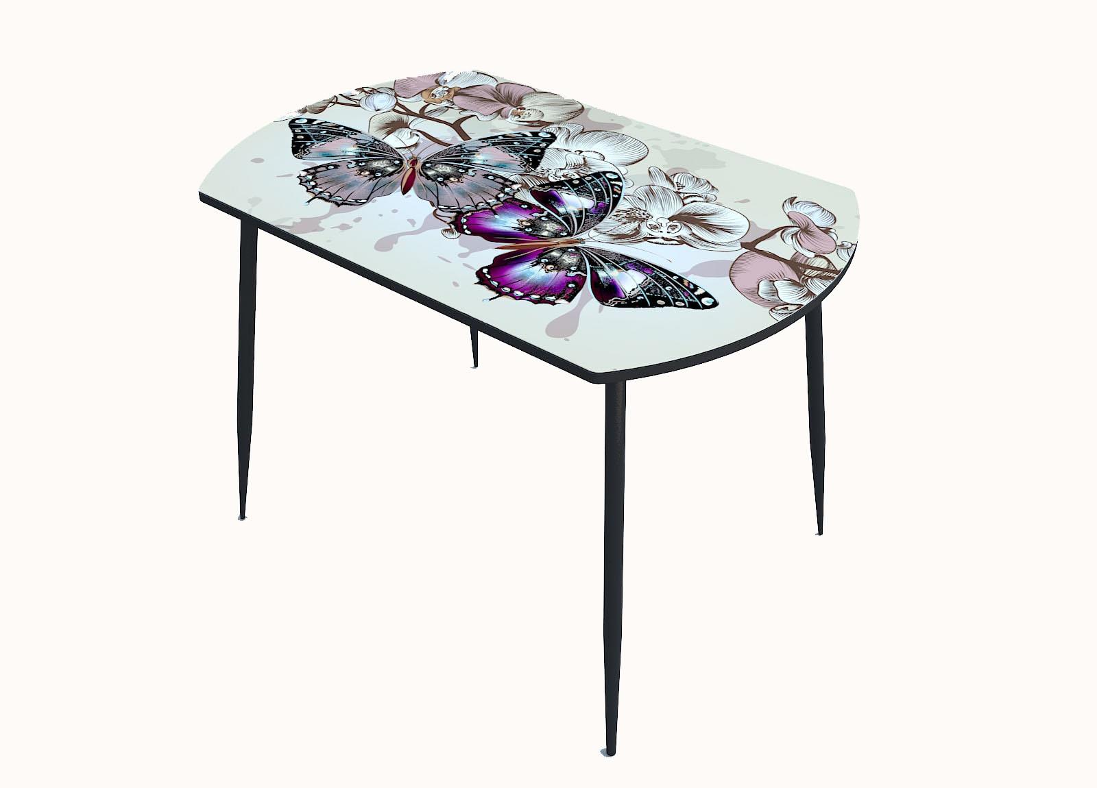 Стол стекло фотопечать Бабочки 103