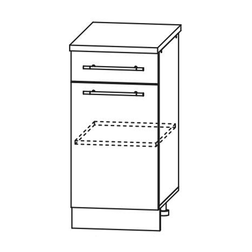 Кухня Гарда Шкаф нижний С1Я 400 с ящиком